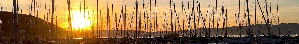 Skansen marina solnedgang